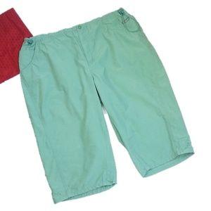Columbia 1X Mint Green Capris Pants